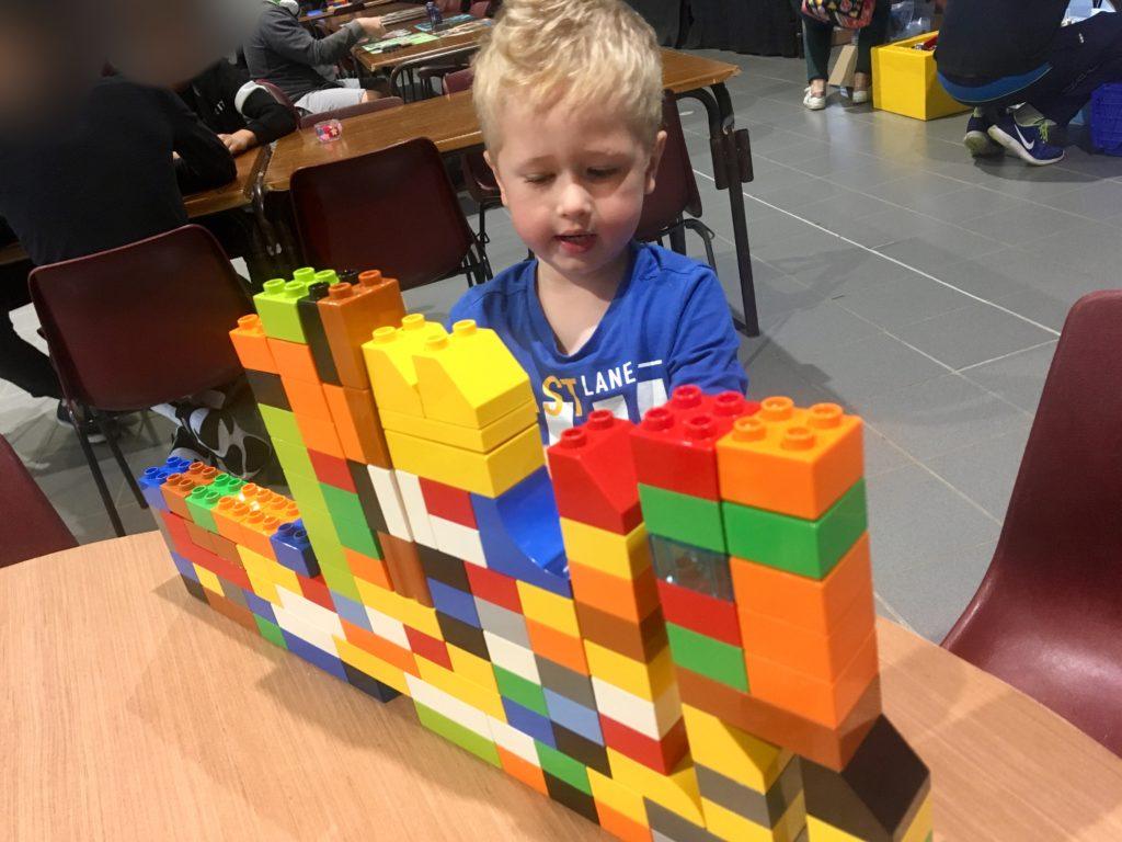 Lucas building Duplo