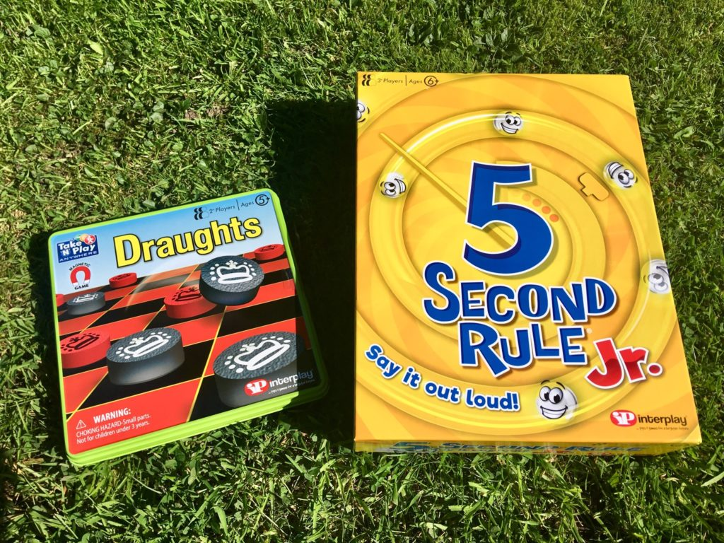 Take n play draughts and five second rule Jr