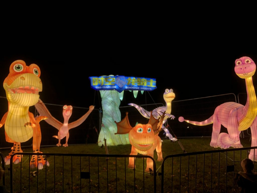 Dinosaurs at lightopia,manchester