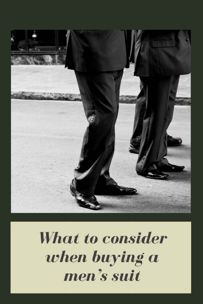 What to consider when buying a men's suit