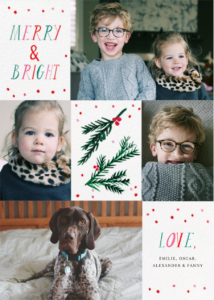 Paperless post Christmas card eco friendly cards