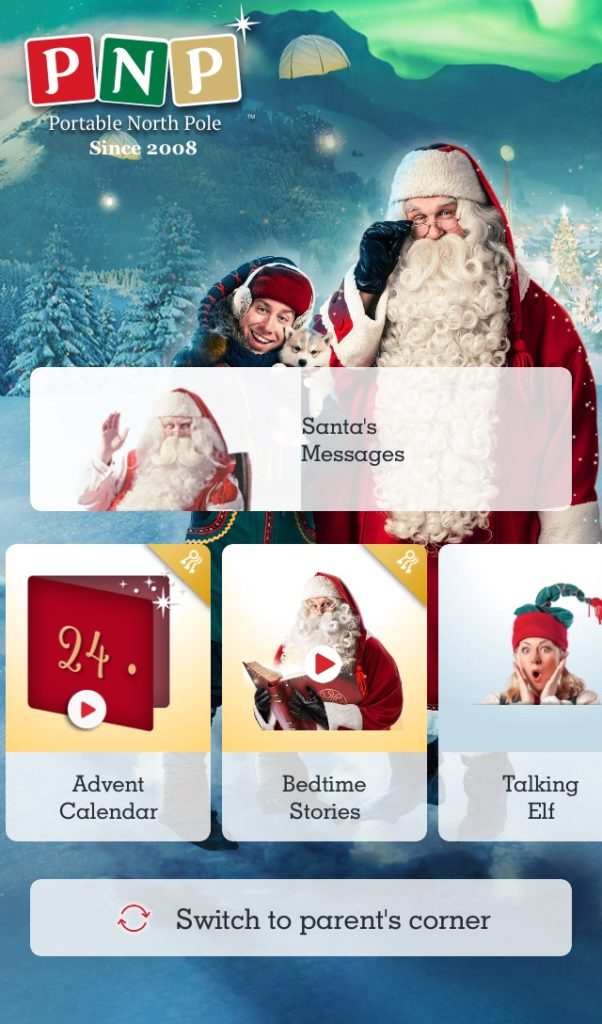 Get messages from Santa the pnp home screen