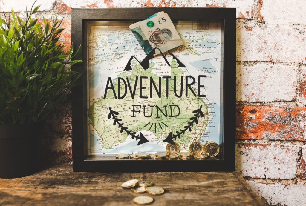 travel funds money saver frame