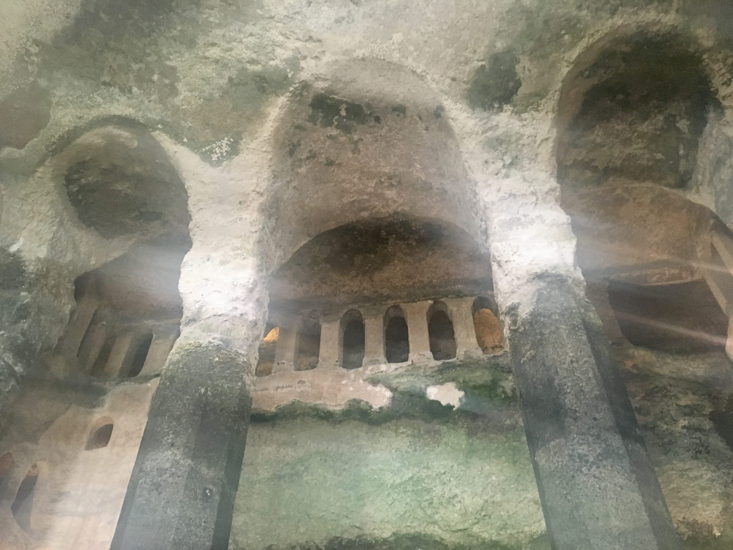 Underground Church of St Jean, Aubeterre-Sur-Dronne. Also known as the Monolithic church, Eglise Monolithique, or the troglodyte church