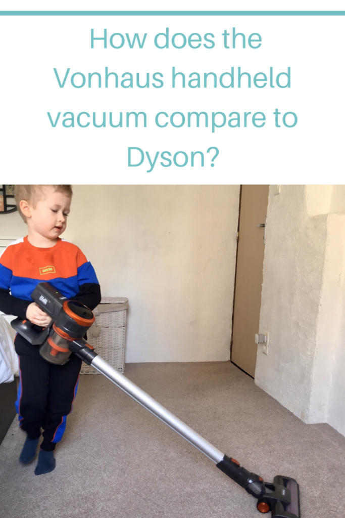 How does the Vonhaus handheld vacuum compare to Dyson? I test out the Vonhaus grey cordless vacuum when I am used to using the Dyson V8 Absolute