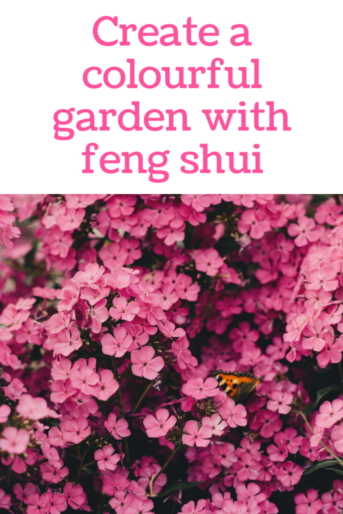 Use Asian principles of Feng Shui to design garden landscapes. Colour combinations may consist of harmonies or contrast for a beautiful flower bed.