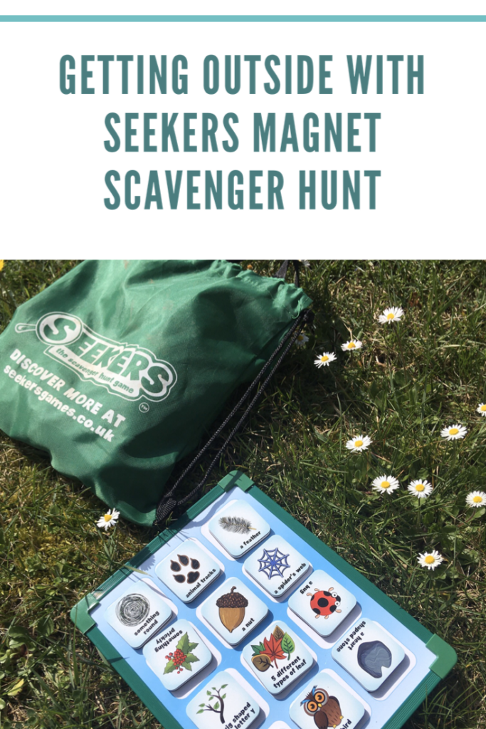 Getting outside with Seekers magnet scavenger hunt
