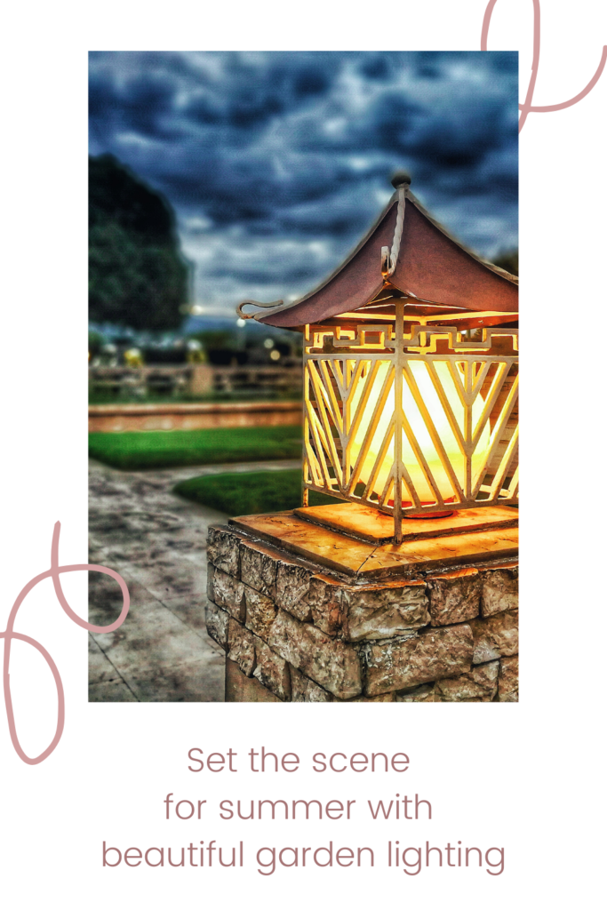Set the scene for summer with beautiful garden lighting