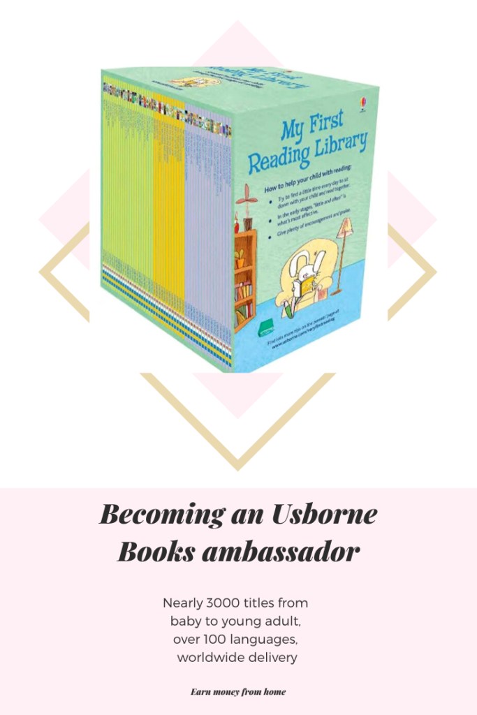 I took the leap to become an Usborne Books ambassador. Usborne books have nearly 3000 title from baby to young adult and are available in over 100 languages