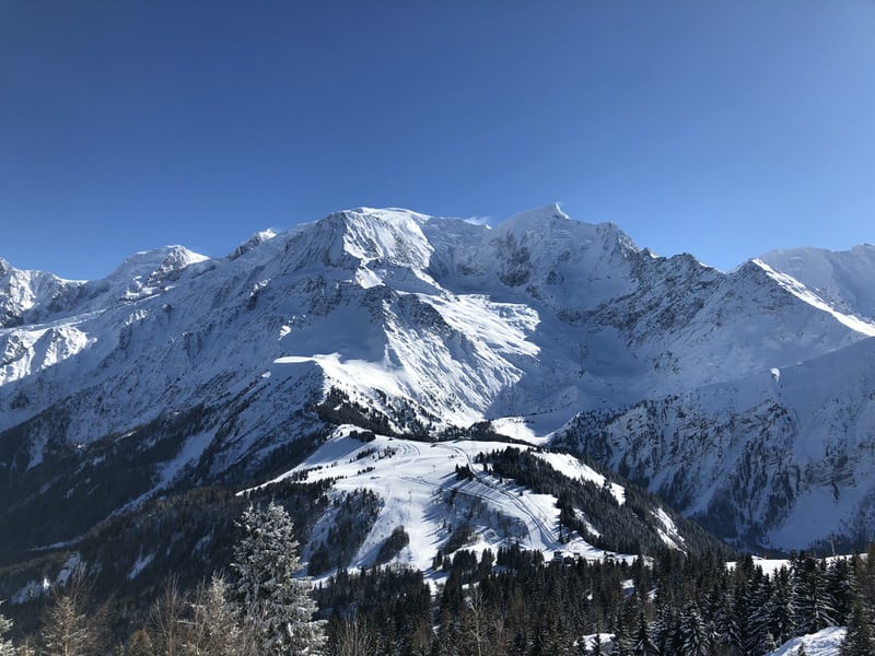 Mont Blanc from Charmonix france