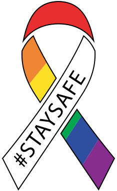 The rainbow #staysafe ribbon