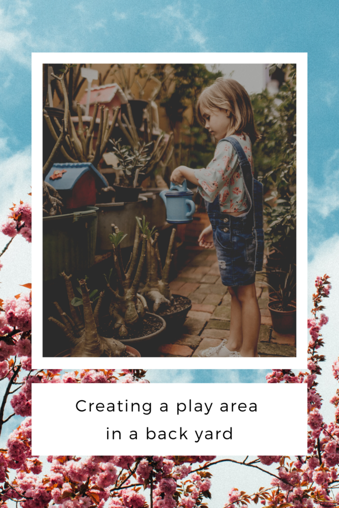 Creating a play area in a back yard