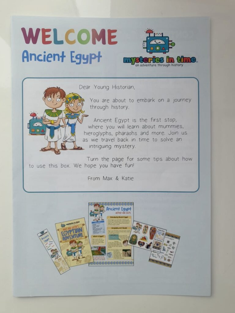Welcome to ancient Egypt leaflet