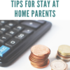 Money management tips for stay at home parents