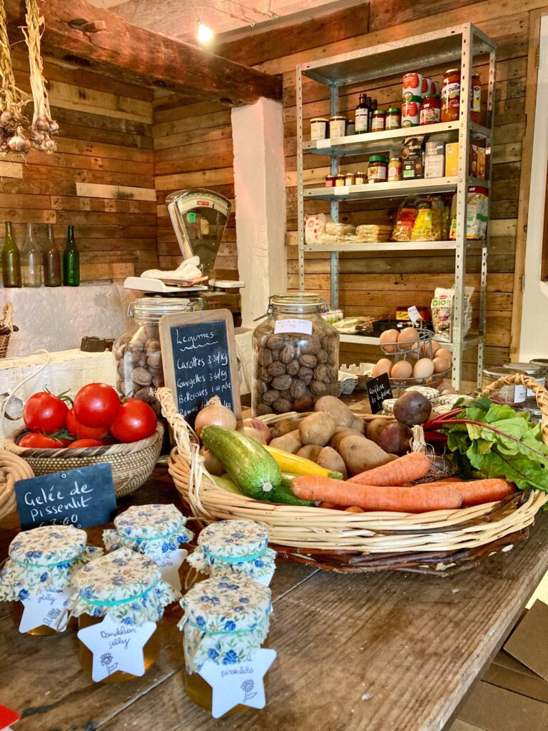 Photo of local produce in the farm shop
