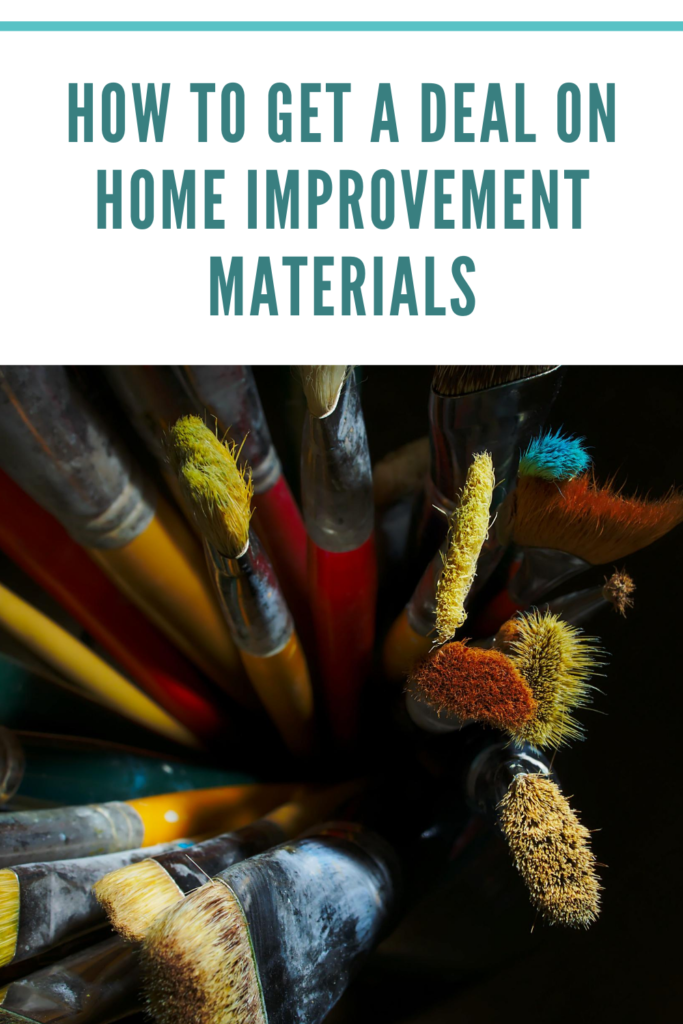 How to get a deal on Home Improvement Materials