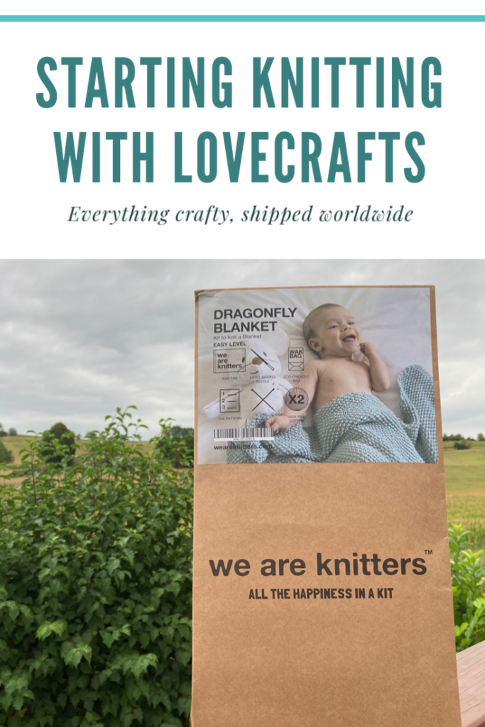 Starting knitting with LoveCrafts. I have the We Are Knitters Dragonfly Blanket kit. A beginners knitting kit to create a baby blanket