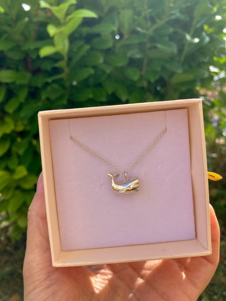 Silver whale necklace from Jana Reinhardt