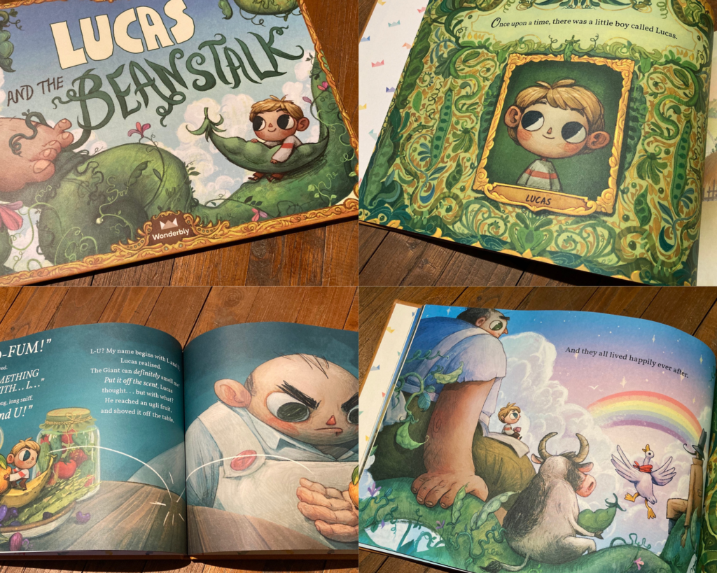 Wonderbly jack and the beanstalk personalised for Lucas