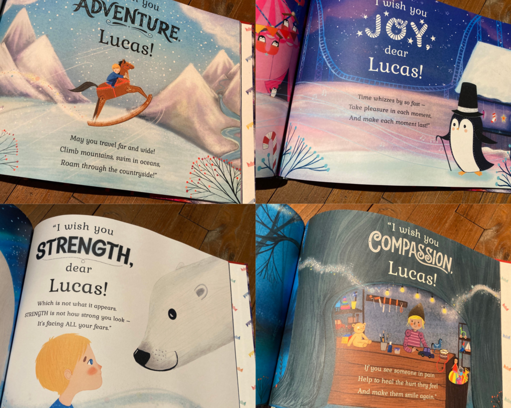 Wonderbly Christmas wishes book