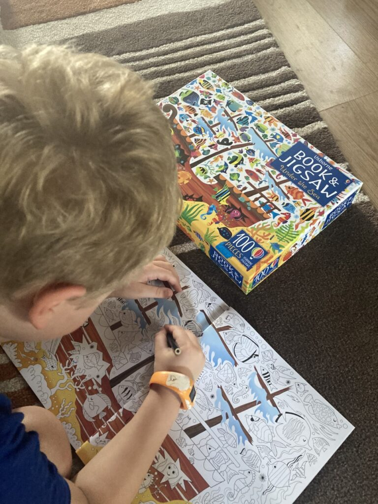 under the sea jigsaw and book
