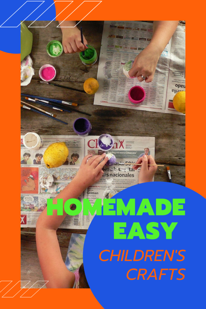Homemade easy children's crafts
