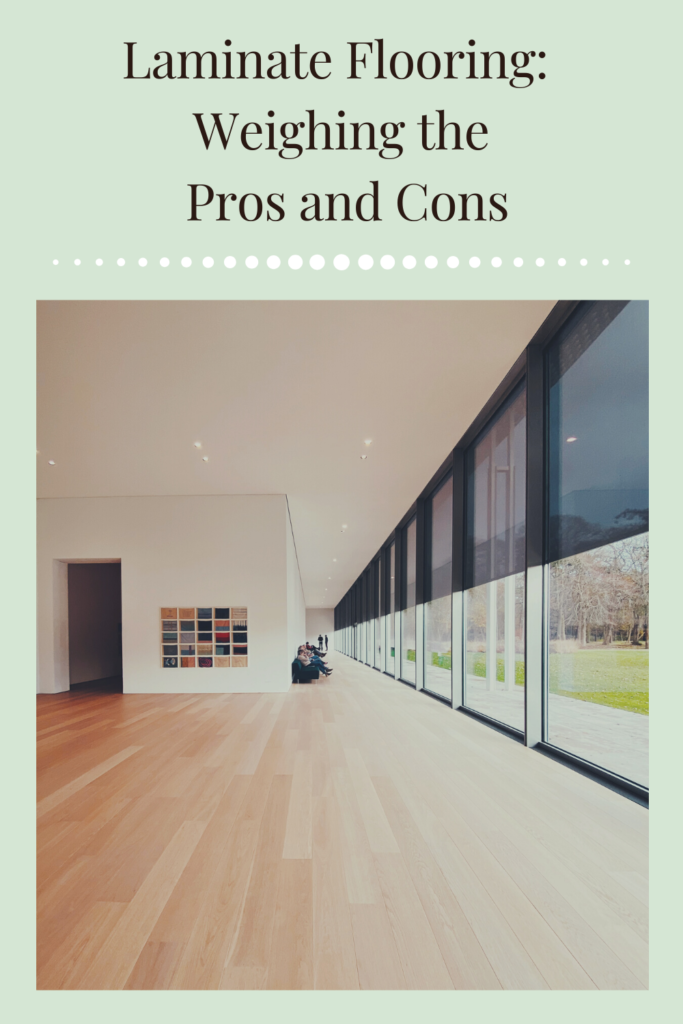 Laminate Flooring: Weighing the Pros and Cons. Attractive easy to install and a quality durable flooring option that imitates hardwood floors.
