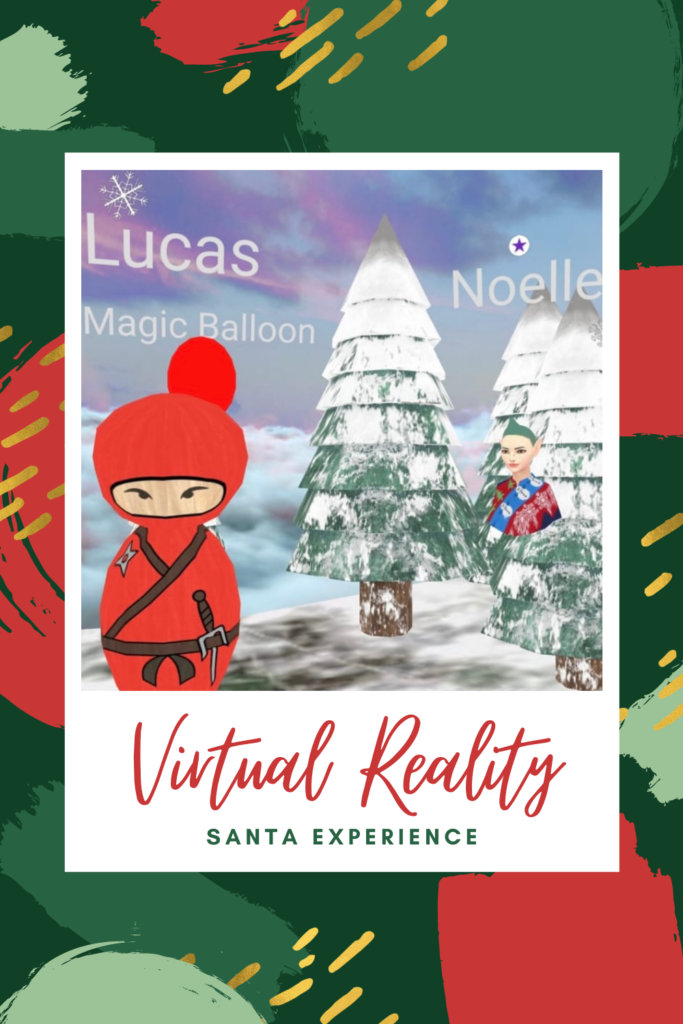 Virtual reality Santa experience review. A virtual grotto for 25 minutes, using up to 5 devices, entering a snowy wonderland with elves.