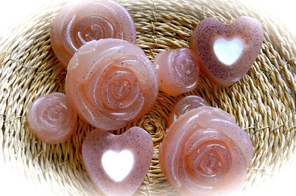 rose soaps from PureRoKNaturalSoap etsy
