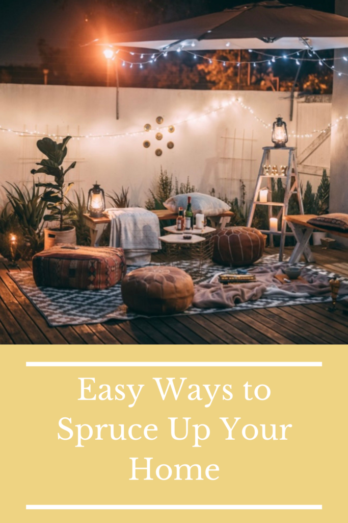 Easy Ways to Spruce Up Your Home. Whether you redecorate or simply do some deep cleaning, there are ways to make your home look spruced up