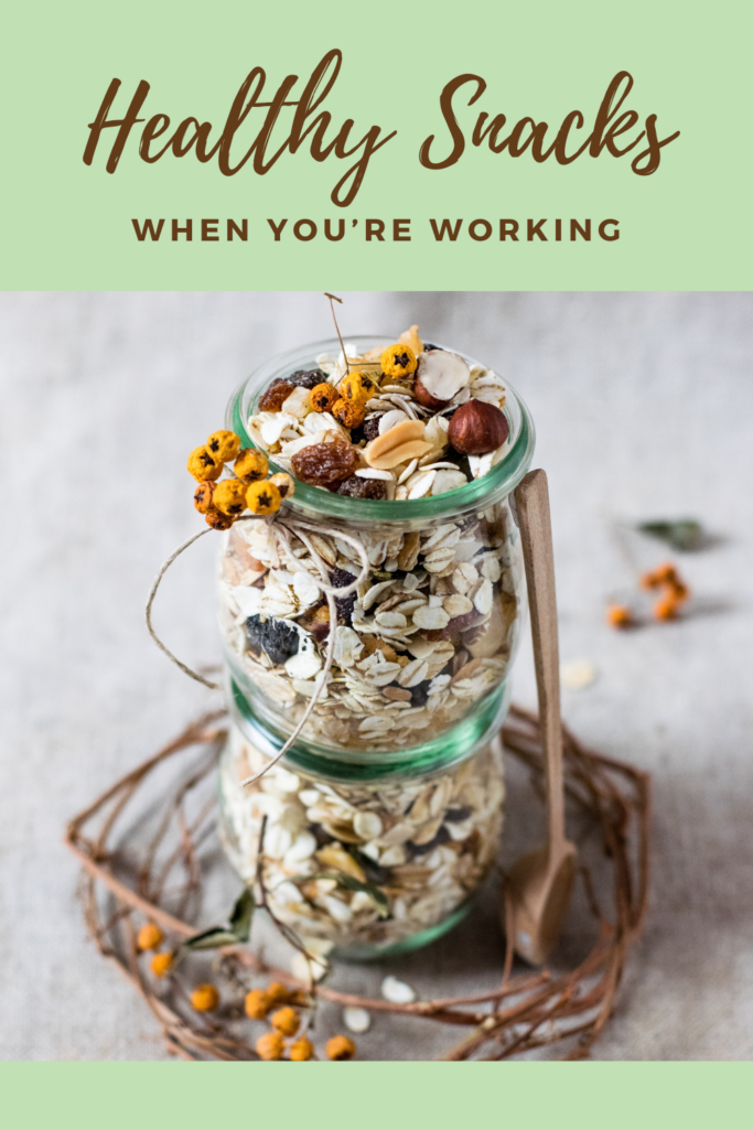 Healthy Snacks to Munch On When You're Working. Keeping your energy levels up can help you stay at your productive best.