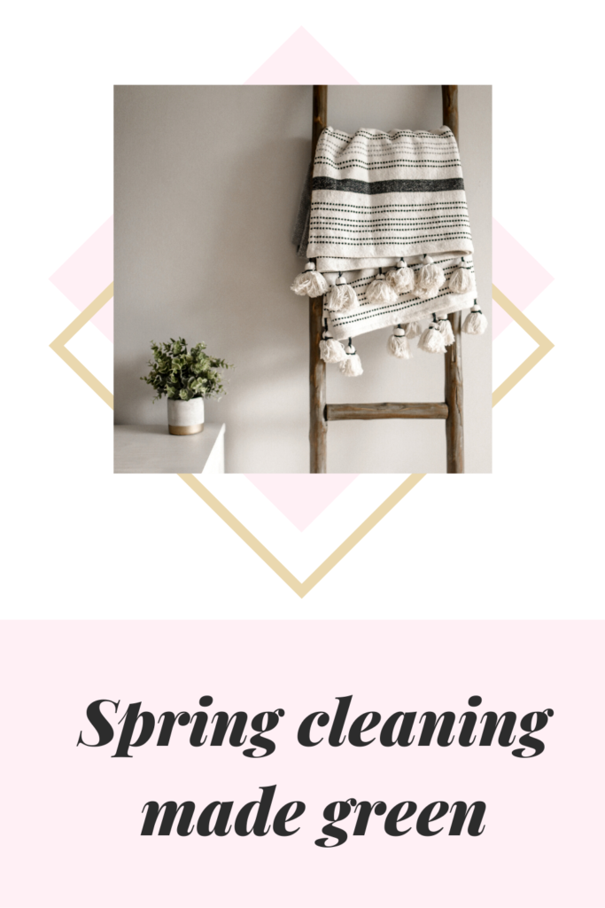 Spring cleaning made green. A cleaner, fresher home using natural homemade cleaning products of green tea, vinegar, lemons, and baking soda
