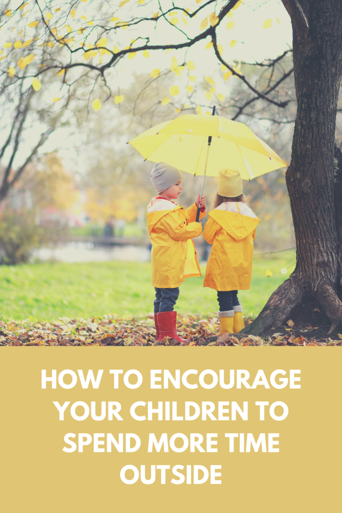 How to Encourage Your Children to Spend More Time Outside. Simple ideas to get the kids outside having as much fun as indoors