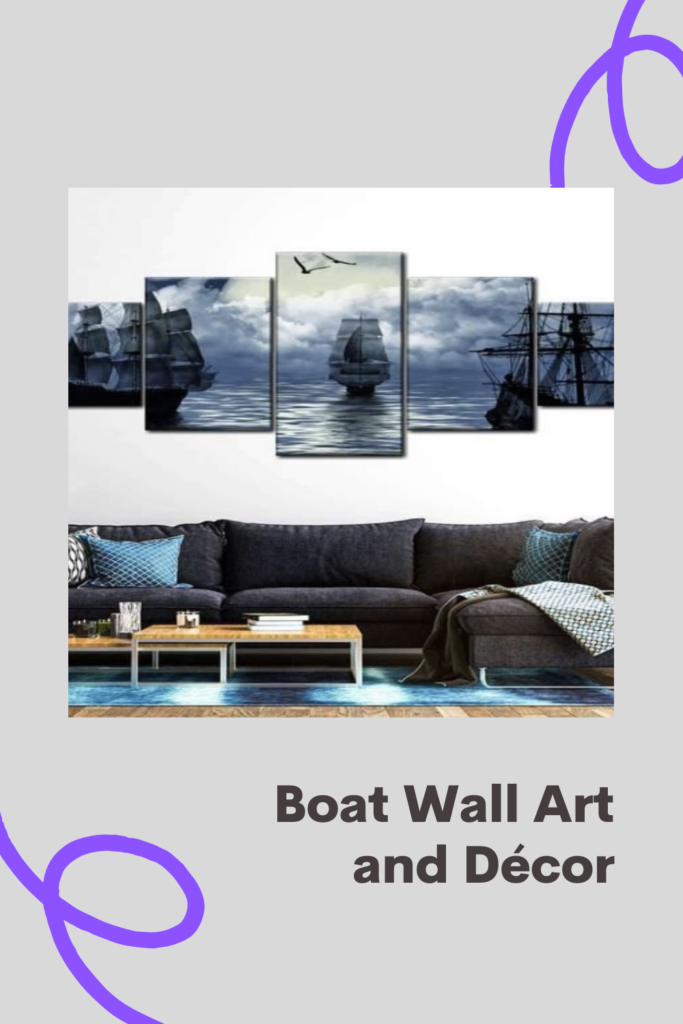 You can bring the charms and beauty of marine life into your home with boat wall art and decor. The colours can be featured in any room