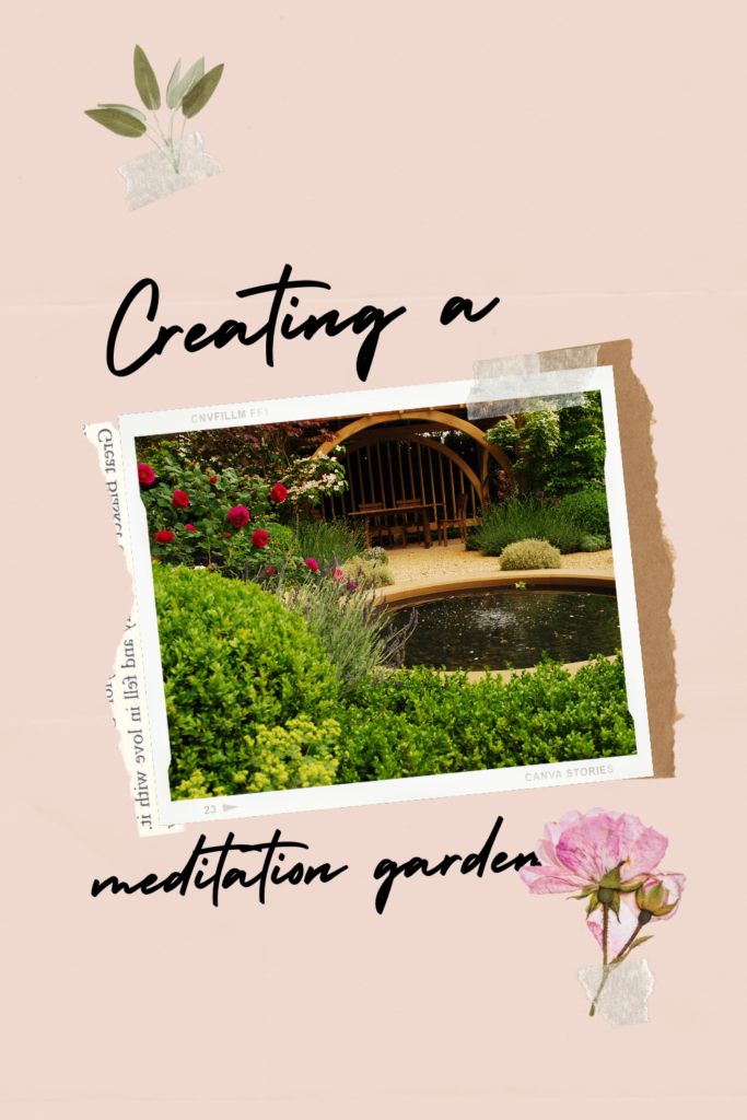 Creating a meditation garden not only gives a person a creative outlet but, provides a beautiful and tranquil setting for meditation.