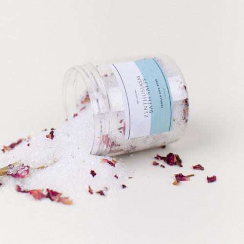 zenthusiasm rose bath salts
