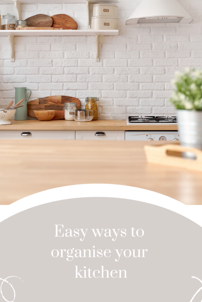 Easy ways to organise your kitchen. You have to really stay on top of your kitchen so it can easily set the tone for the rest of the home